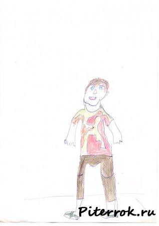 Рисуют дети (автопортрет)