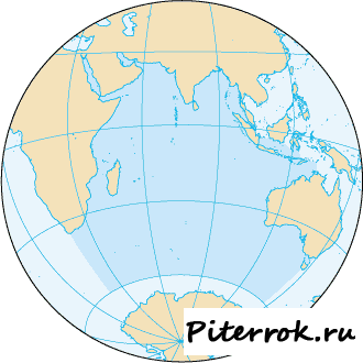Индийский океан и его обитатели.